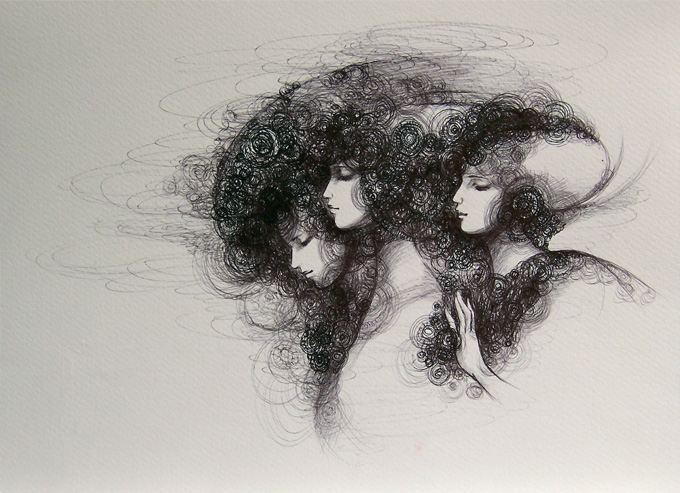 バラ窓の女たちⅠ